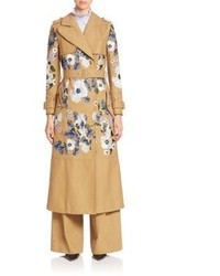 Erdem Susan Embroidered Trench Coat