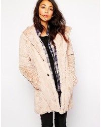 Faux fur hooded coat medium 180013
