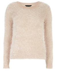 Dorothy Perkins Nude Fluffy Jumper