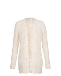 New Look Cream Fluffy Textured Open Front Cardigan