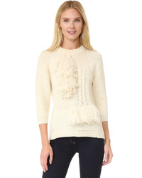 Nina Ricci Fringe Knit Pullover
