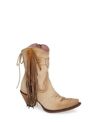 Lane Boots Fringe Western Bootie