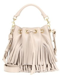 Small bucket fringed leather tote medium 1252228