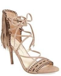 Jessica Simpson Mareya Fringe Ankle Tie Sandal