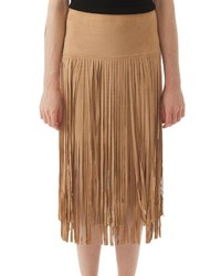 Fringe suede skirt medium 560280