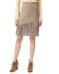 Hadley beige suede skirt medium 560278