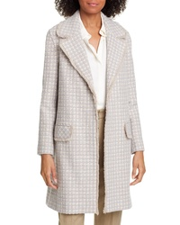 Helene Berman Ruth Fringe Detail Tweed Coat