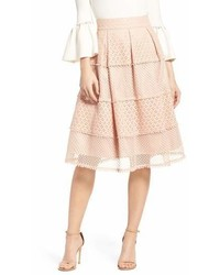 Banded lace midi skirt medium 6991681