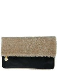 Beige Fur Clutch