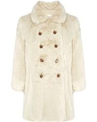 Charles Anastase Cream Faux Fur Colette Coat