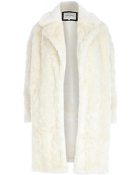 River Island Cream Faux Fur Oversized Coat