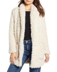 BB Dakota Faux Fur Mix A Lot Teddy Bear Coat