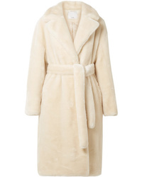 Tibi Luxe Oversized Faux Fur Coat