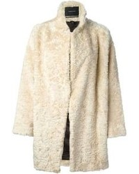 Maison Scotch Faux Fur Overcoat