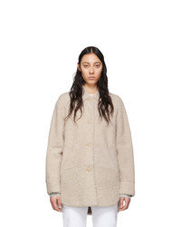 Isabel Marant Off White Shearling Sarvey Coat