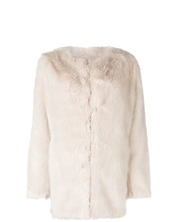 Helmut Lang Oversized Faux Fur Coat