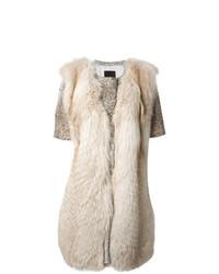 Liska Panelled Short Sleeve Coat