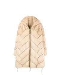 Liska Quilted Fur Coat