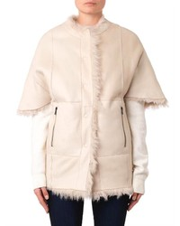 Drome Reversible Collarless Shearling Coat | Where to buy & how to ...