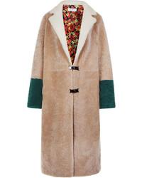 Saks Potts Beige Colour Block Babette Coat