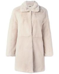 Salvatore Ferragamo Concealed Fastening Fur Coat