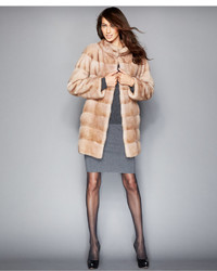 The Fur Vault Three Quarter Length Mink Fur Coat