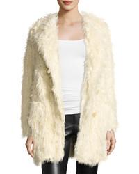 Zadig & Voltaire Vialo Faux Fur Coat Beige