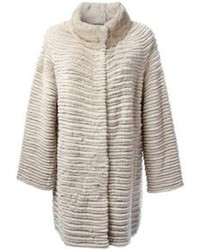 Yves Salomon Ribbed Loose Fit Coat