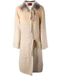 Missoni Fur Trim Coat