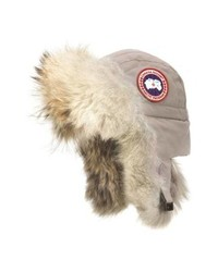 Canada Goose Aviator Hat With Genuine Coyote