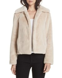 Beige Fur Jacket