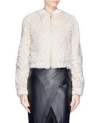 Nobrand Clyne Cavallino Trim Mink Fur Jacket
