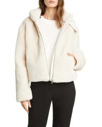 Club Monaco Faux Fur Crop Jacket