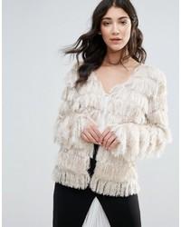 Traffic People Faux Fur Short Jacket