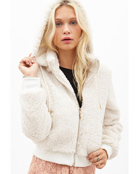 Forever 21 Faux Shearling Hoodie