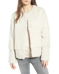 Love Token Genuine Rabbit Fur Jacket