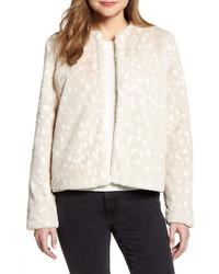 Rachel Parcell Print Faux Fur Jacket