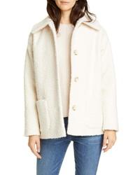 Helene Berman Short Faux Shearling Coat