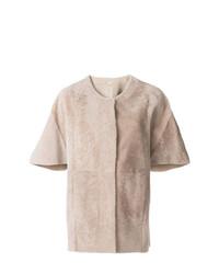 Drome Short Sleeved Cape Coat