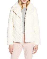Halogen Textured Faux Fur Jacket