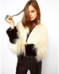 Unreal Fur Fire And Ice Coat In 2 Tone