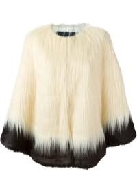 Unreal Fur Two Tone Faux Fur Jacket