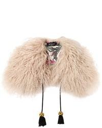 Etro Mongolian Goat Fur Scarf Collar