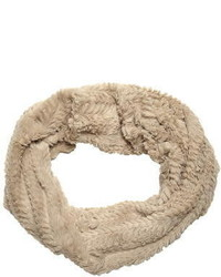 Oat Crushed Faux Fur Snood