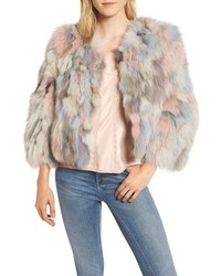 Beige Fur Shrug