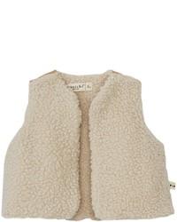 Anais I Amelie Faux Fur Vest Ivorymetallic Gold 24 Months