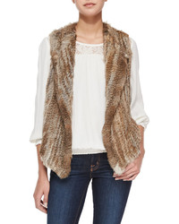 Andoni rabbit fur vest medium 4415959