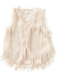 Jessica Simpson Big Girls 7 16 Gertrude Faux Fur Vest