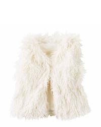 Carter's Carters Girl Ivory Fur Vest 4 8