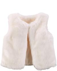Carter's Faux Fur Vest Ivory 2t